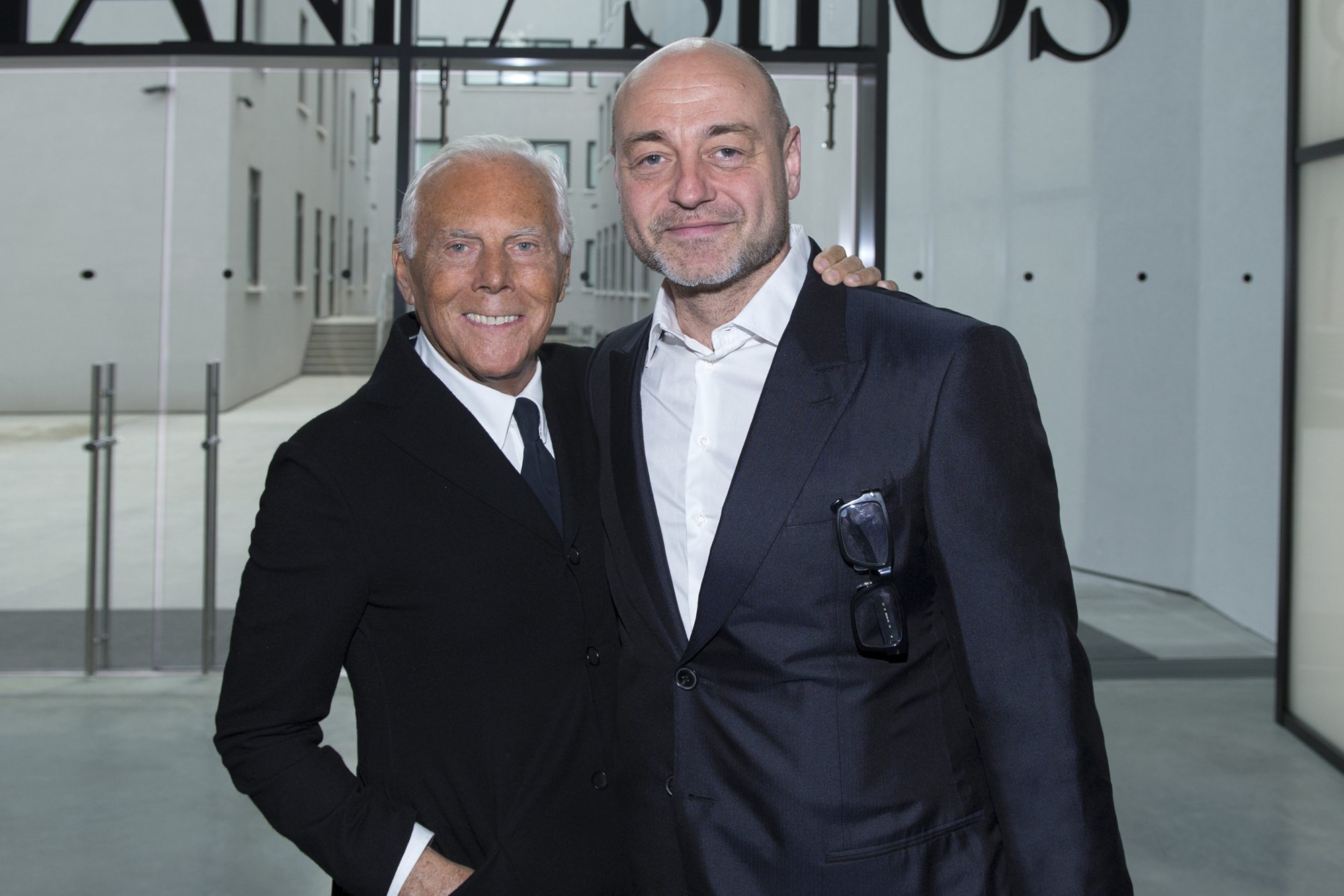 Peter Howarth with Armani