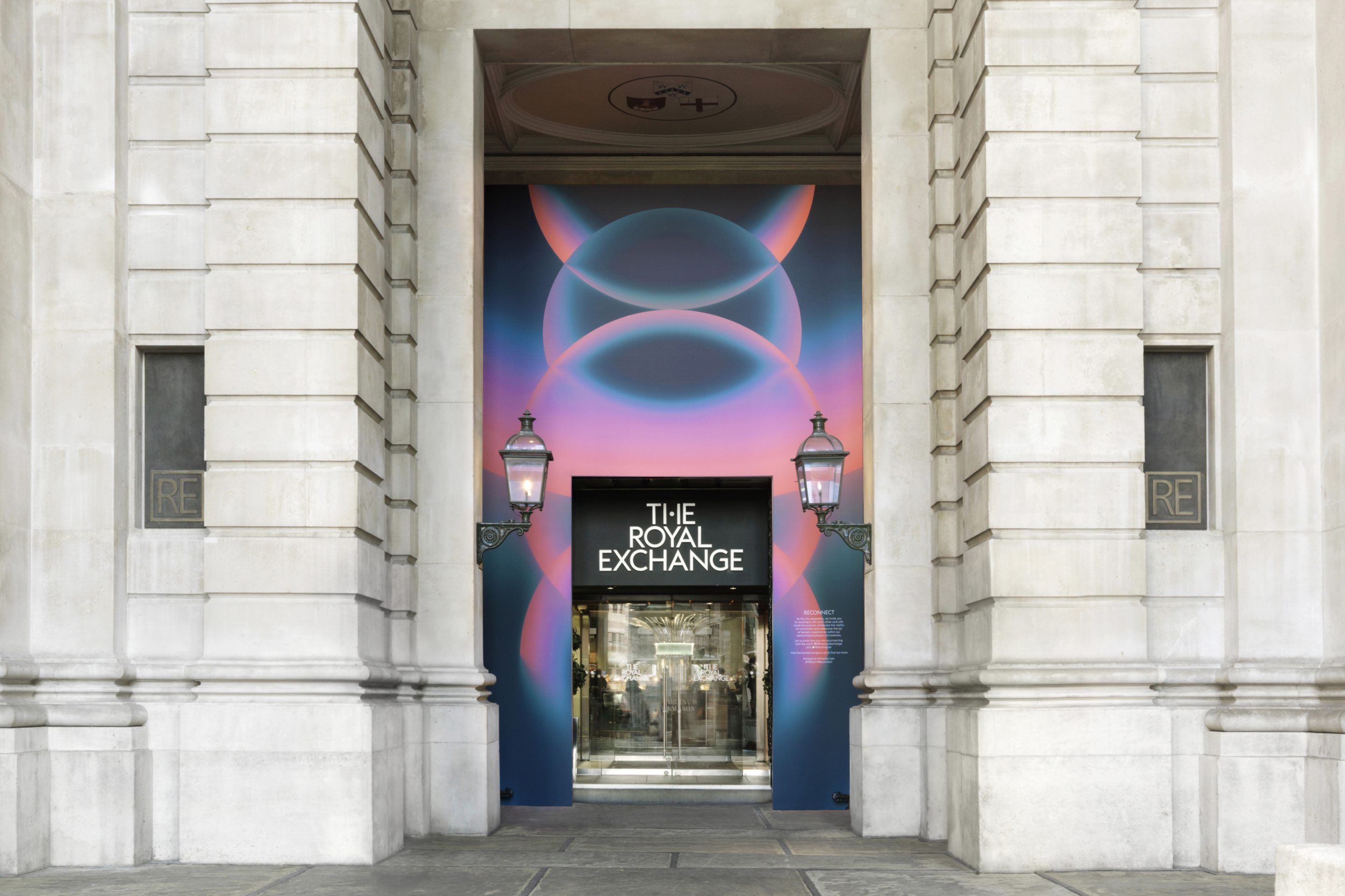 Nicholas Law's Reconnect artwork at The Royal Exchange